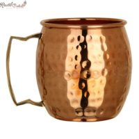 Copper Moscow Mule Mug with Brass Handle