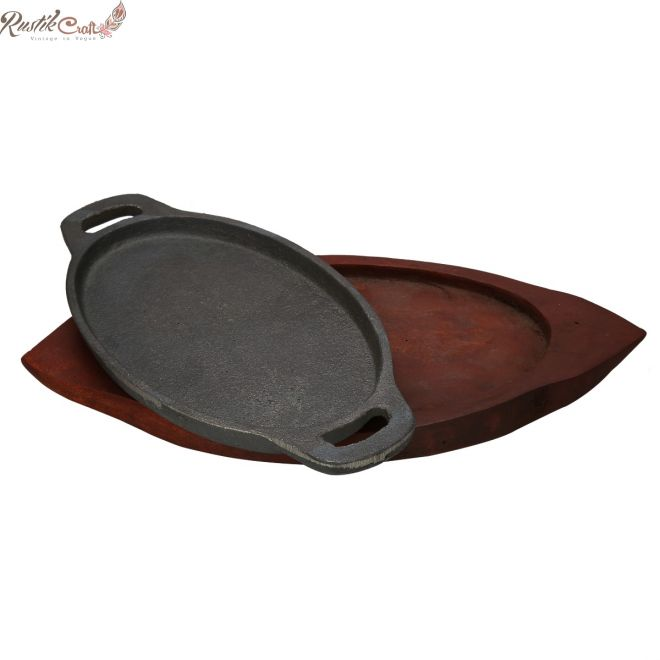 Oval Cast Iron Sizzler Plate