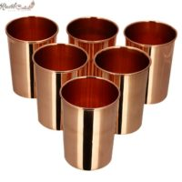 Set of 6 Plain Copper Glass