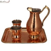 Mughlai Jug With Matki Glass N Tray