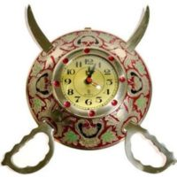 Rajasthani Sword Armour Wall Clock