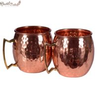 Moscow Mule Mug With Brass Handle Set of 2 520 ML (170z)