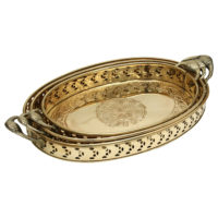 Set of 3 Brass Tray