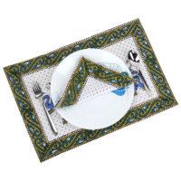 Cotton Block Prints Napkins & Place mats Set of 6 Each